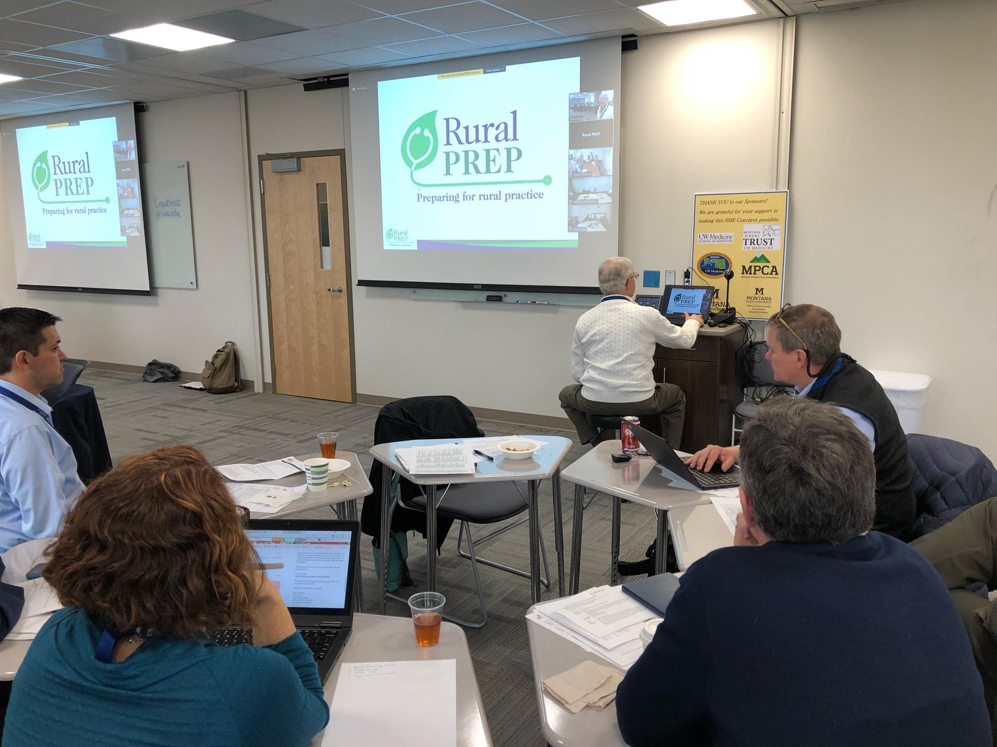 Randall Longenecker, MD, Rural PREP's Community of Practice Lead hosting the session.