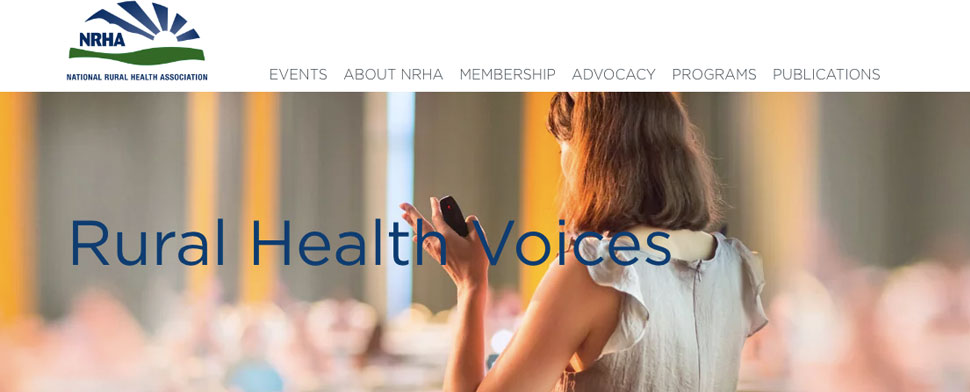 Rural Health Voices Blog - Header image with NRHA Logo